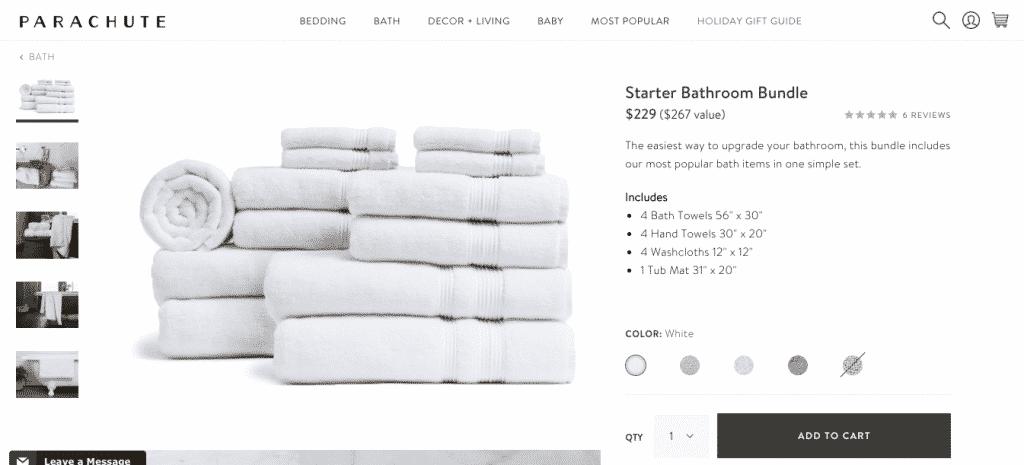 bundled products to increase average order value