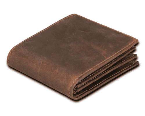 brown leather wallet to sell on shopify