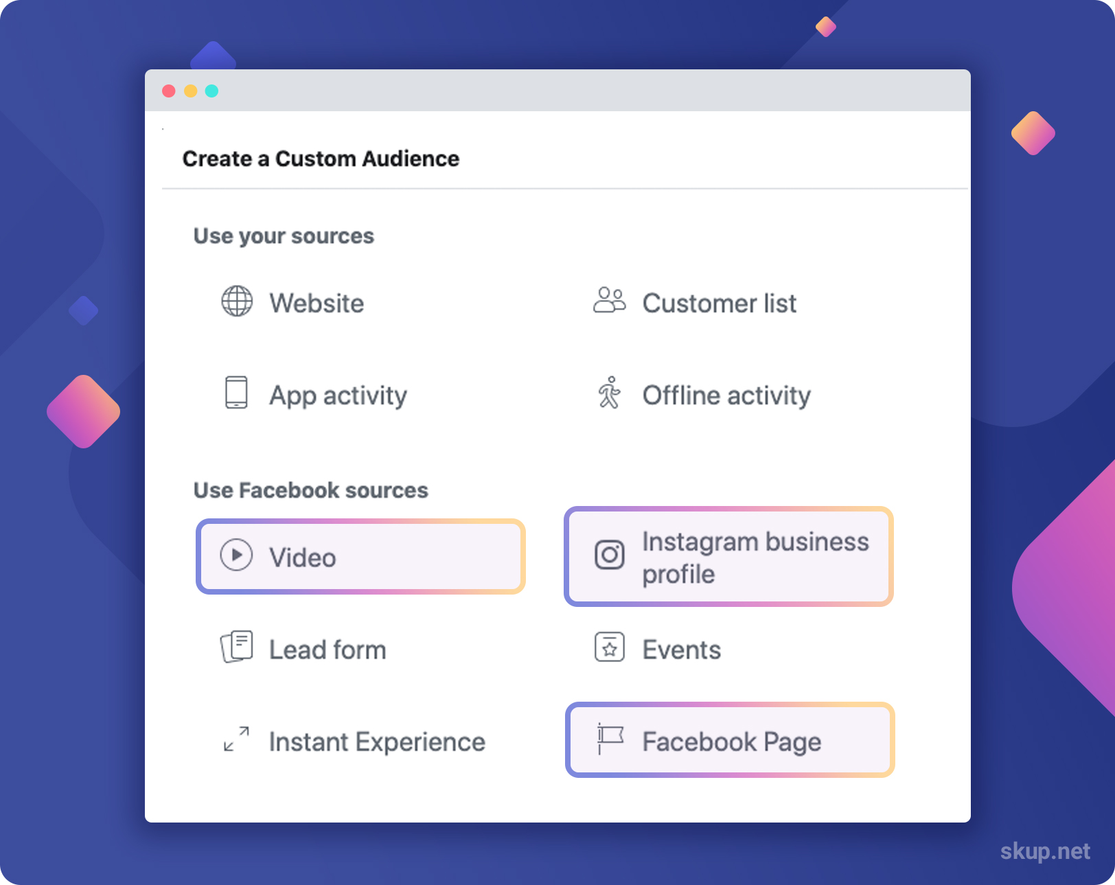 how to create engagement custom audiences