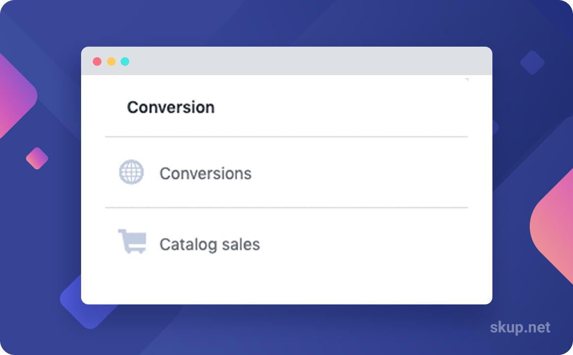 facebook conversion objective